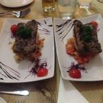 Wild boar sausages with canellini beans and grilled bread