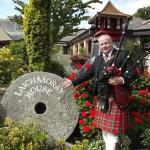 Guvnor piping at Laichmoray Hotel Elgin
