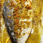 """Orata 2,5kg """"pescata """"al forno in crosta di mollica alla mediterranea !!!!"""