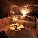 The lounge in the Habibi tent