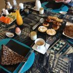 le petit dejeuner du Clos des Chevaliers