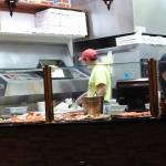 Caruso's pizza counter