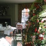 dining area at Christmas time