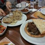 Traditional Lamb & bread meal
