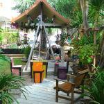 front of garden area