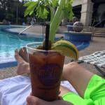 Bloody Mary from the beachclub bar.