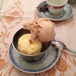 Plenty of ice cream as a dessert.