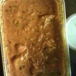 chicken khatta masala, sauce was good, but chicken not so good.