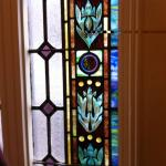 Lovely stained glass windows along the stairway & elsewhere