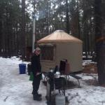 Early morning at honeysuckle yurt