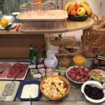 Large choix du buffet petit déjeuner