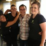 John Catucci and the Front end girls