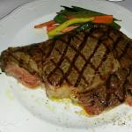 This was my Piedmontese Delmonico that was out of this world!  Also had a side of Fettuccine Alf