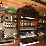 Ornate wooden bar