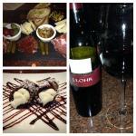 J. Lohr Cab Sav, The Taste of Rome cheese board & cannoli's!
