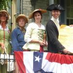 The Declaration of Independence is read from the porch each July 4.