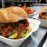 Beef Brisket with spiced fries in a freshly baked roll