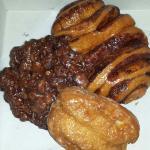 Apple Fritter, Cinnamon Roll, Glazed Buttermilk Bar