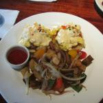 Eggs Benedict with scrambled eggs so amazing