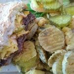 Beef w/ Cheddar & Fried pickles