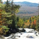 View from the top of Step Falls in autumn.