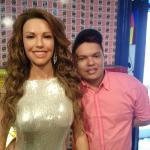Estátua da cantora e atriz mexicana Thalia