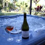 Be pampered in the Outdoor Spa