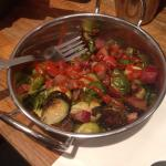 Brussel Sprouts with bacon and sriacha!