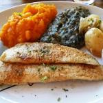 Delicious fillets and veg