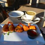 Shrimp wontons and Jalapeño Crawfish Chowder...these were our favorites of all!!