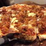 Bacon and Caramelized Onion Flatbread Pizza