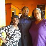 Took a snapshot with the chef of Raggae Shack Cafe