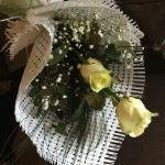 Personal Wish: Two White Roses As A Bouquet