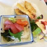 Sashimi and tempura lunch