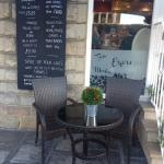 Enjoy our outdoor seating