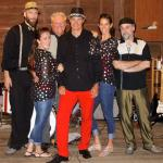 The Crown Vic's band entertained in the barn. We danced and had a ball.