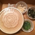Tasty miso soup packaged for take out