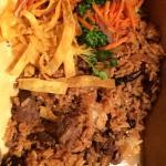 Take out teriyaki filet, hibachi rice and veggies