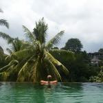 "Infinity ""jungle"" pool"