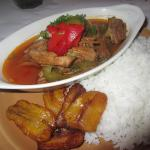 $17.00  Lechon A La Cubana  our traditional cuban dish! slow roasted pork marinated in cuban her