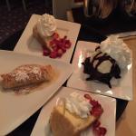 Galactoboureko, Cheesecake and Brownie Sundae