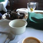 Mussels and soup
