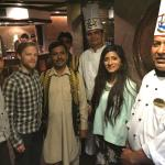 Michael and I with Ratan, chef Hayat and the rest of the team