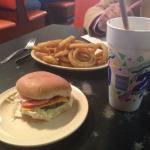 Cheeseburger & Onion Rings