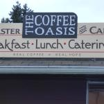 The Coffee Oasis Poulsbo sign