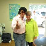 """Office Manager Lola with """"Elvis"""""""