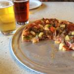 Supreme pizza hold the mushrooms add pineapple... Delicious!!