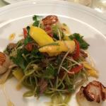 Duck & scallop salad