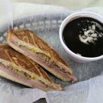 Cuban Sandwich and Black Bean soup