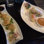 Dumplings and summer rolls-a great start